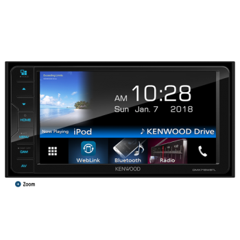 Kenwood DMX-718WBTL Reproductor 2DIN de medios digitales con Bluetooth Original Toyota